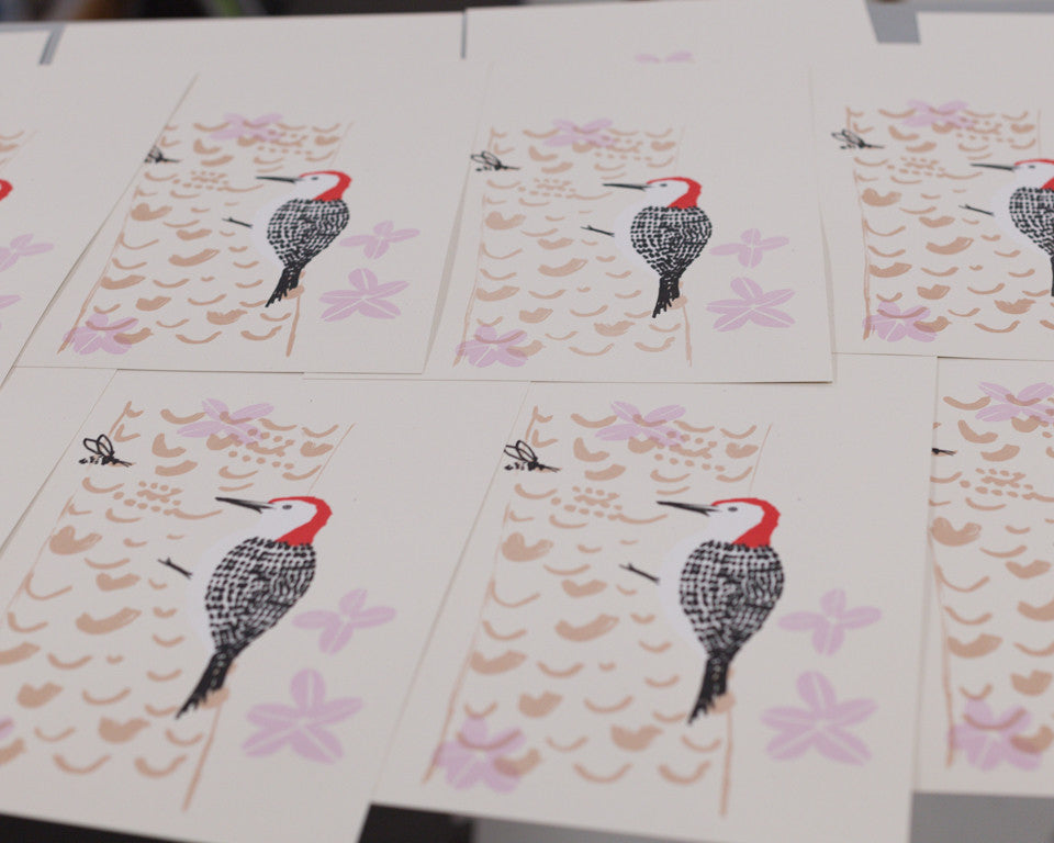 Red-bellied woodpecker print by Sara Parker