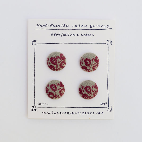 Rare Print Button Card