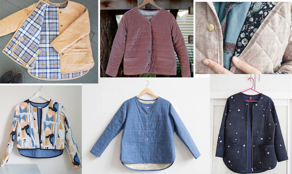 Finished Tamarack Jackets around the web: Inspiration post by sara parker textiles