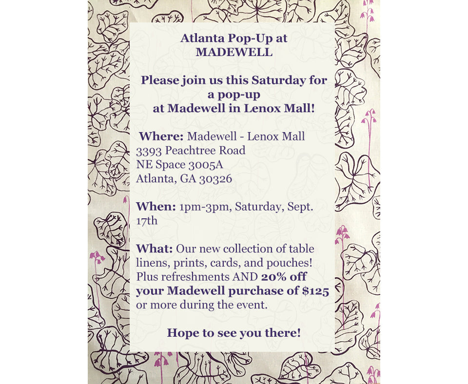 Sara Parker Textiles pop up event at Madewell Lenox