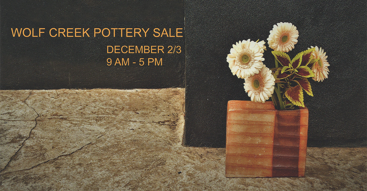 Wolf Creek Pottery Sale, December 2017, Nancy Green