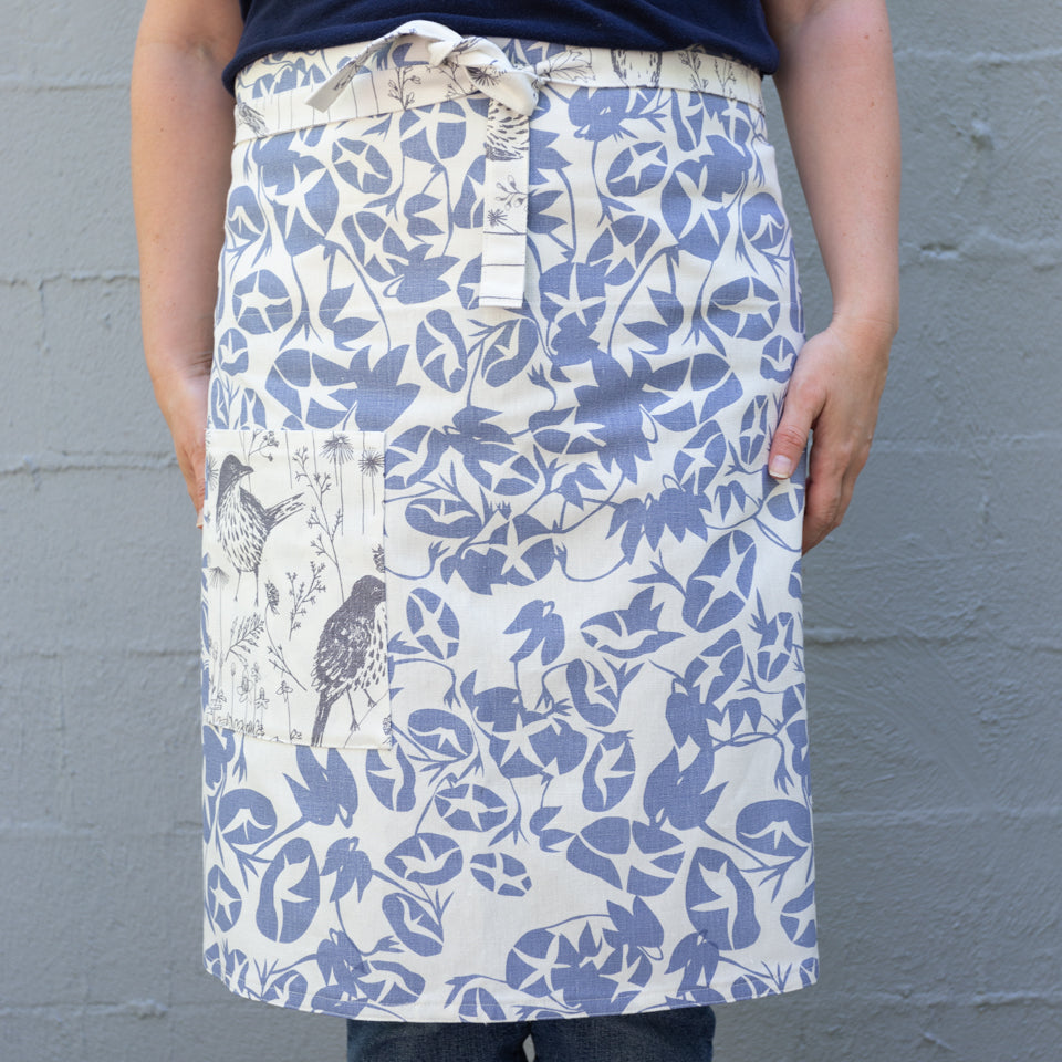 Completed Cheryl Half Apron on model