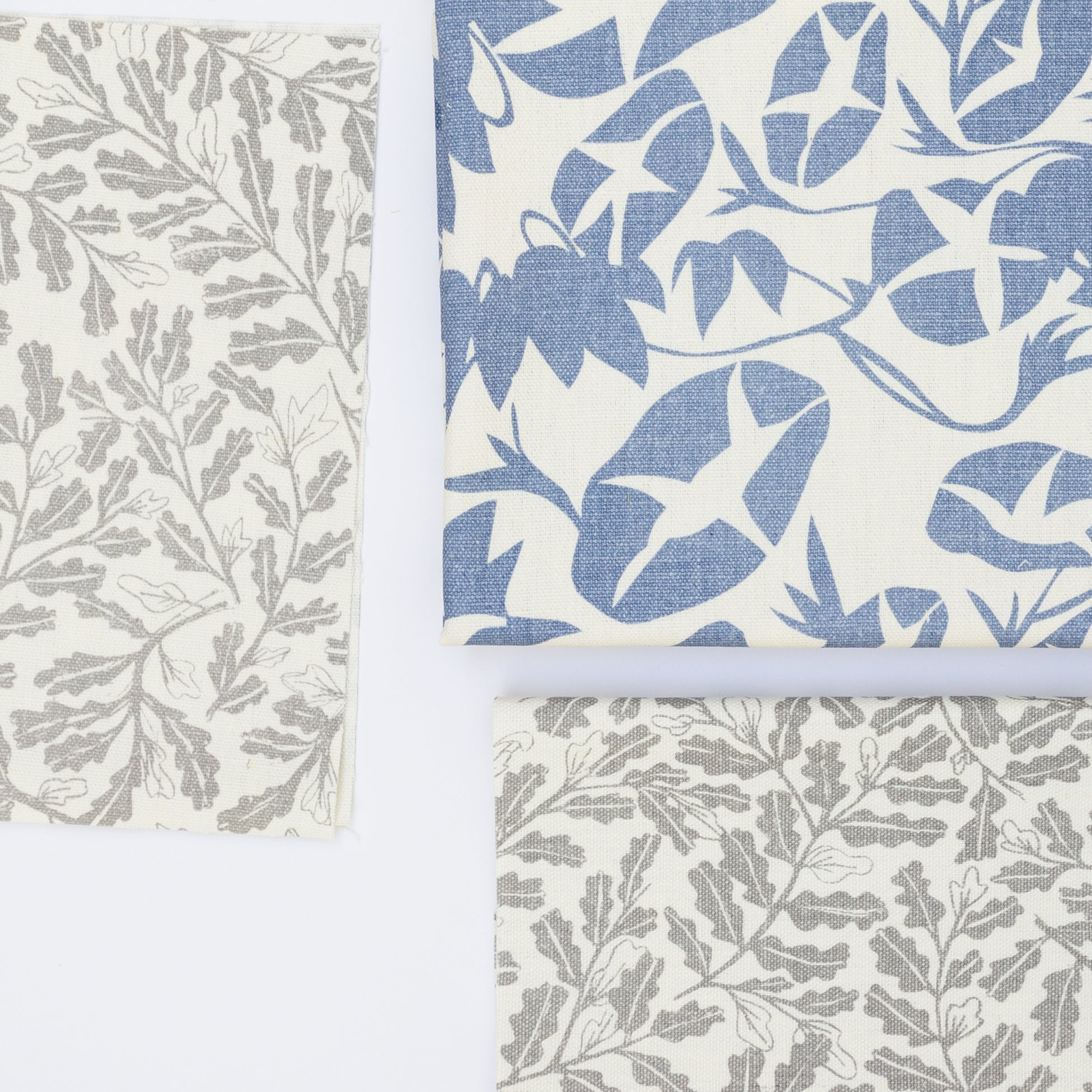 Pre-cut fabric screen printed with botanical illustrations