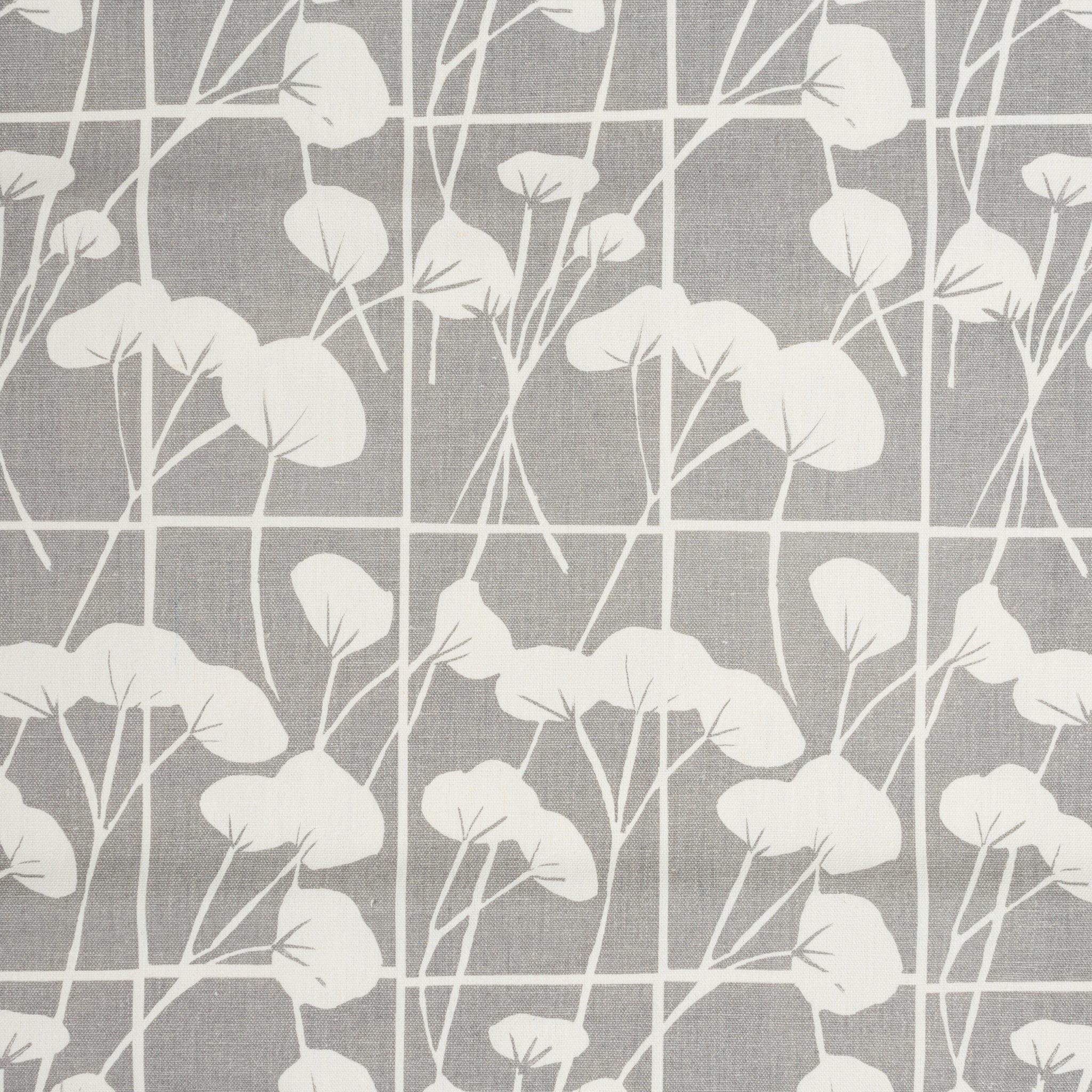Screen printed yardage of Cotton in Pebble on mid weight base cloth