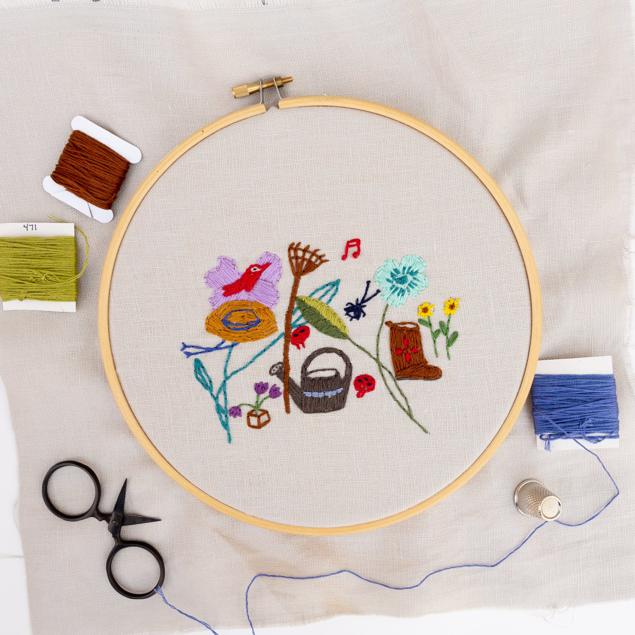 Embroidery Pattern: Little Garden