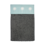 Dandelion Roller Hand Towel In Soft Blue