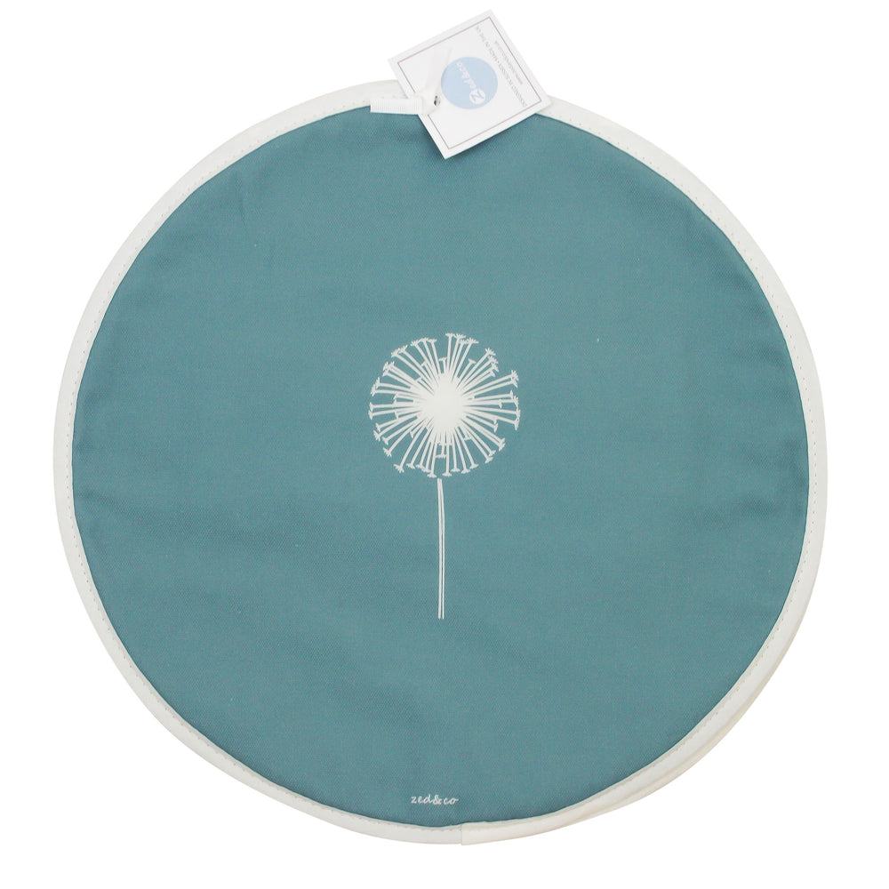Dandelion Aga Covers In Teal - Pair