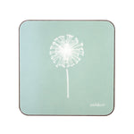 Dandelion Coasters In Aqua