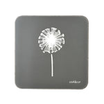Dandelion Coasters In Grey - Set of Four