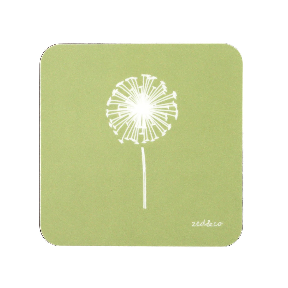 Dandelion Coasters In Pistachio - Set of Four
