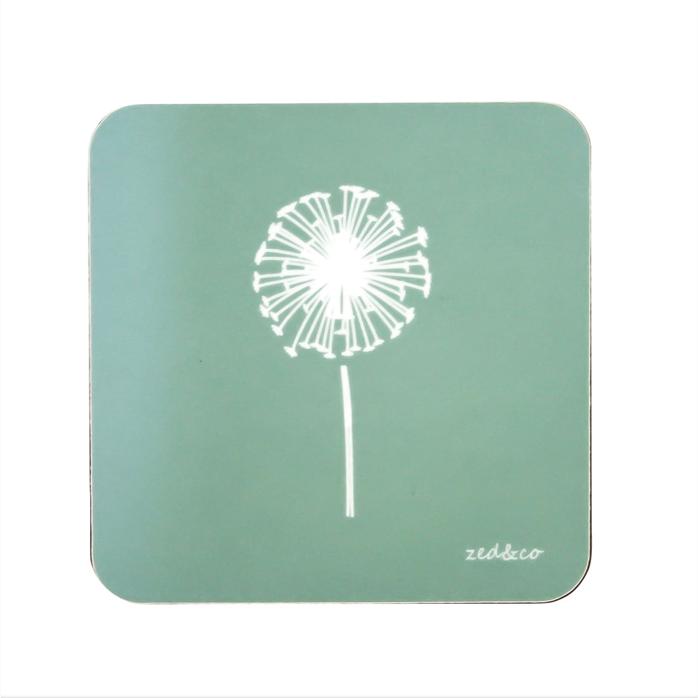 Dandelion Coasters In Sage