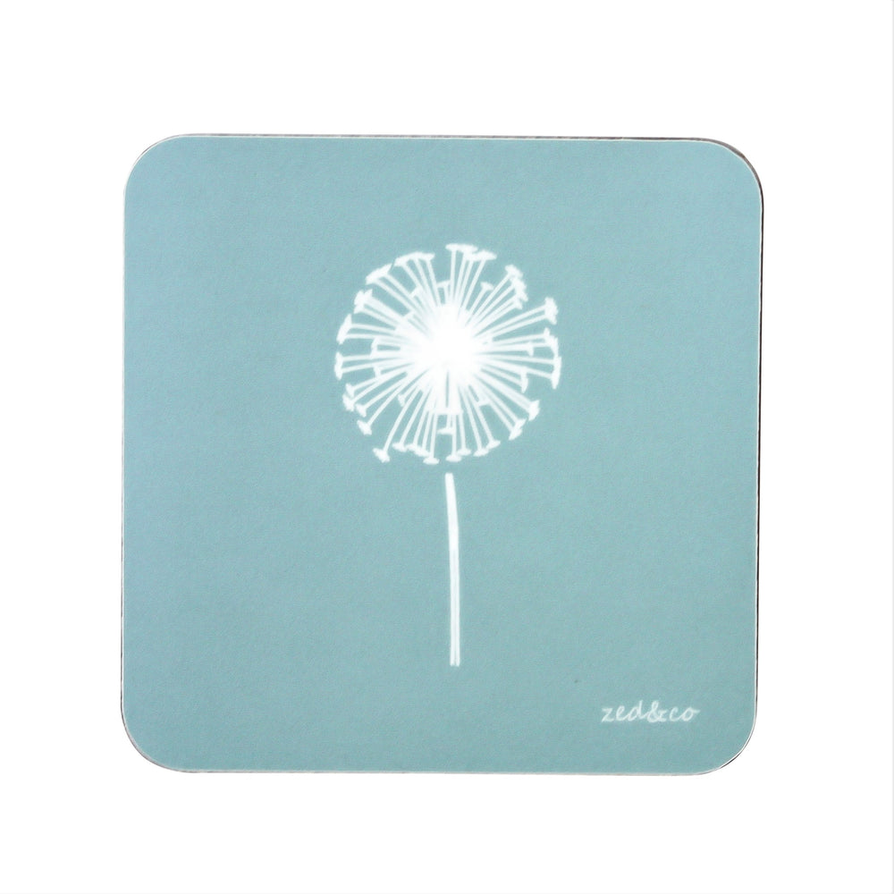 Dandelion Coasters In Soft Blue - Set of Four