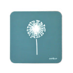 Dandelion Coasters In Teal - Set of Four