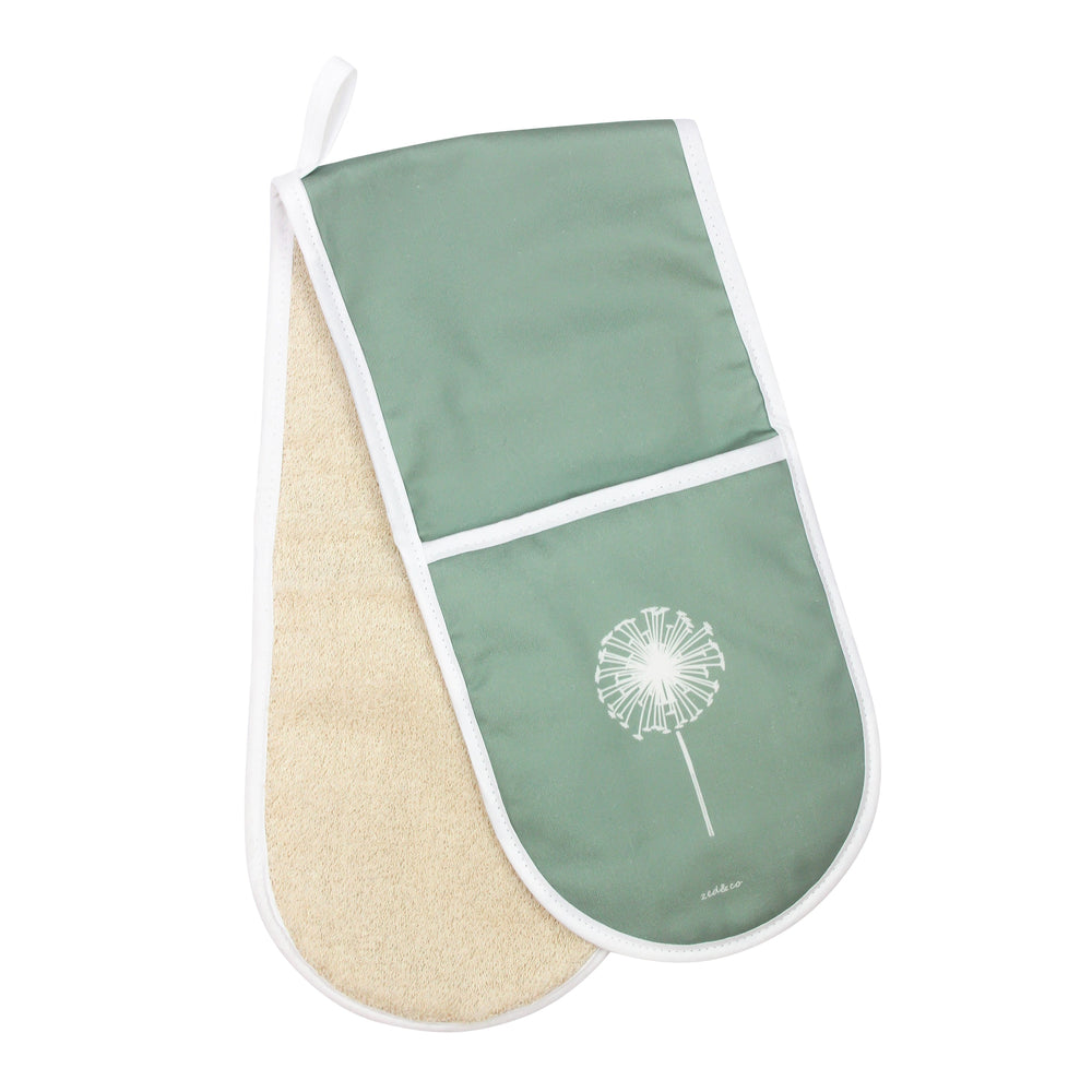 Dandelion Oven Glove In Sage - Zed & Co