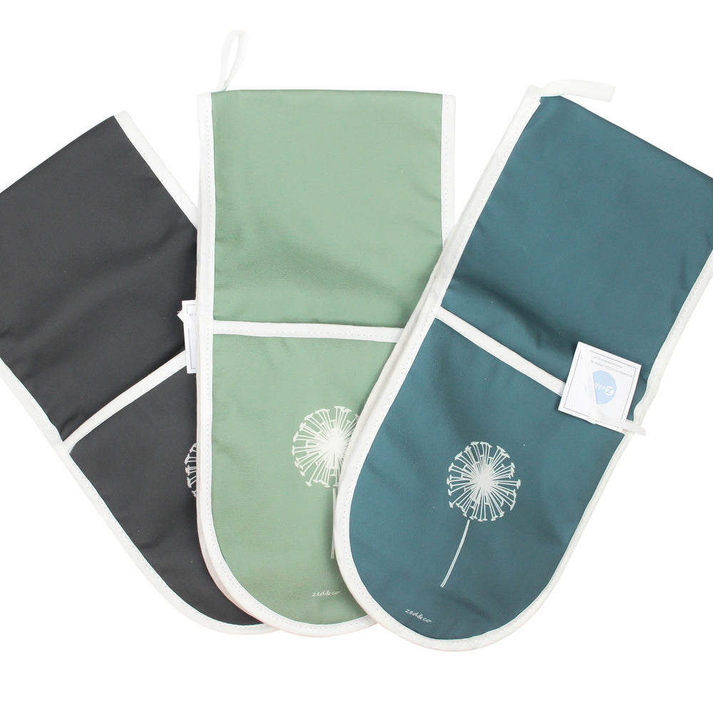 Dandelion Oven Glove In Slate - Zed & Co