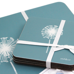 Dandelion Placemats In Teal