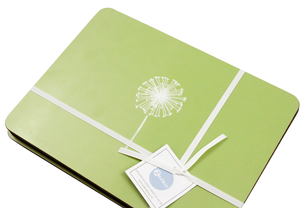 Dandelion Placemats In Pistachio - Set of Four