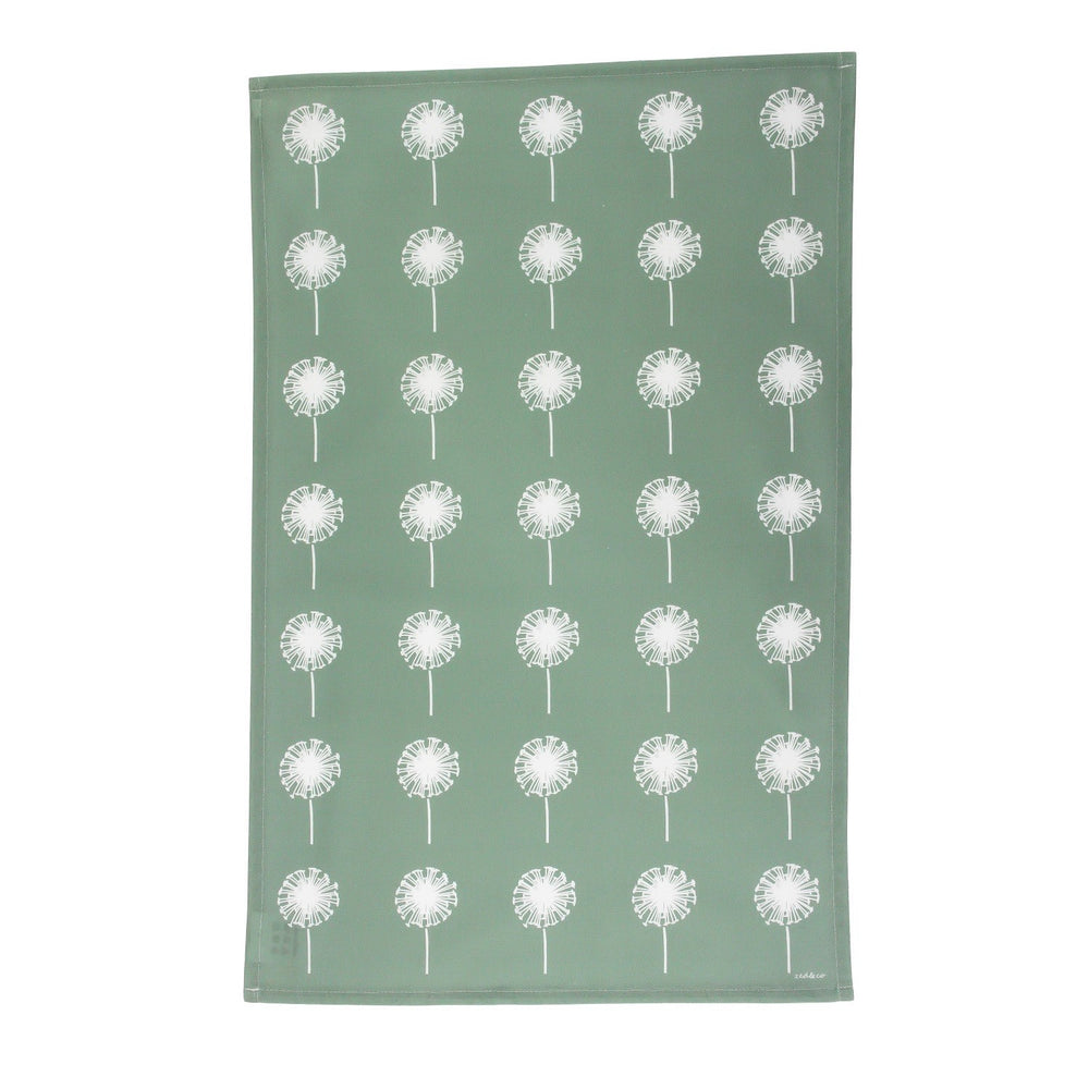 Dandelion Tea Towel In Sage - Zed & Co
