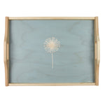 Dandelion Wooden Tray In Soft Blue