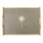 Dandelion Wooden Tray In Grey