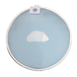 Hedgehog Aga Covers In Soft Blue - Pair