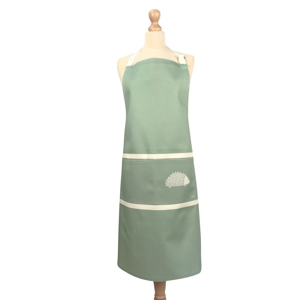 Hedgehog Apron In Sage