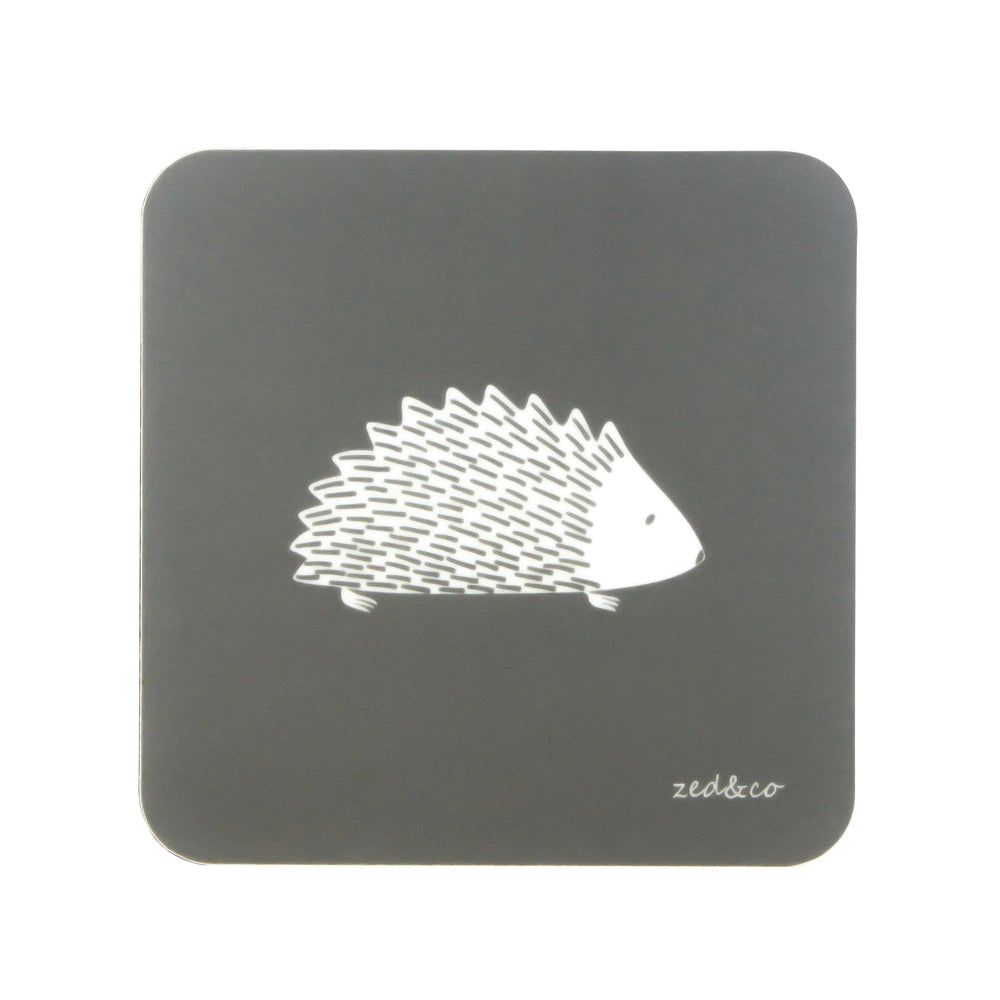 Hedgehog Coasters In Grey