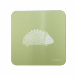 Hedgehog Coasters In Pistachio - Set of Four - Zed & Co