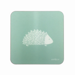 Hedgehog Coasters In Sage - Set of Four