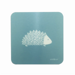 Hedgehog Coasters In Teal - Set of Four