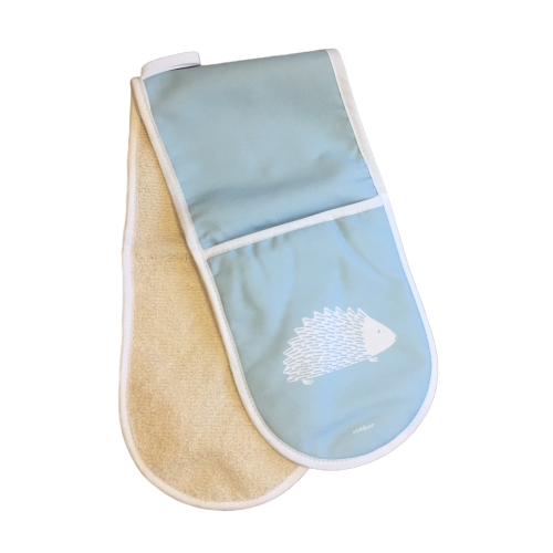 Hedgehog Oven Glove In Soft Blue