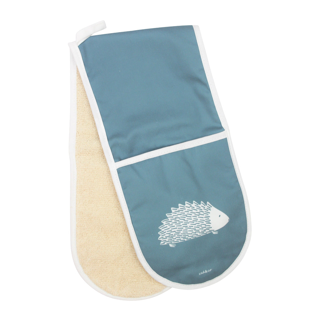 Hedgehog Oven Glove In Teal