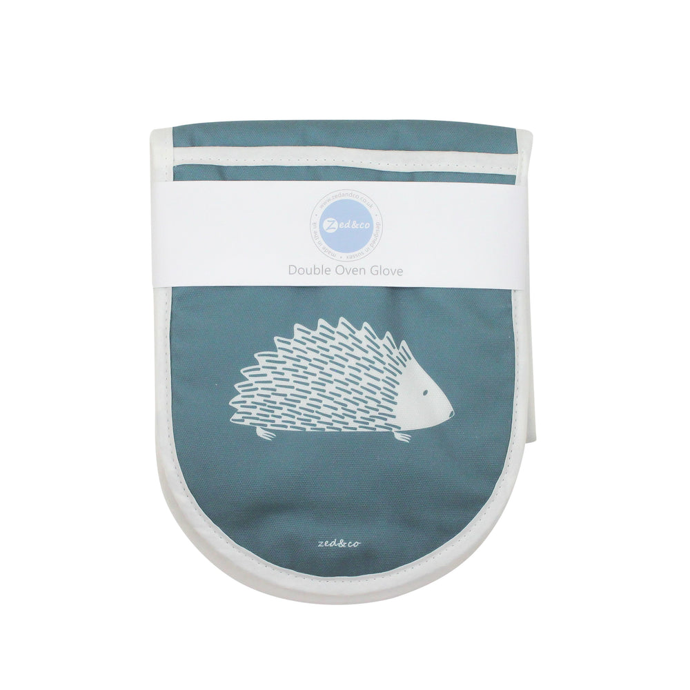 Hedgehog Oven Glove In Teal - Zed & Co