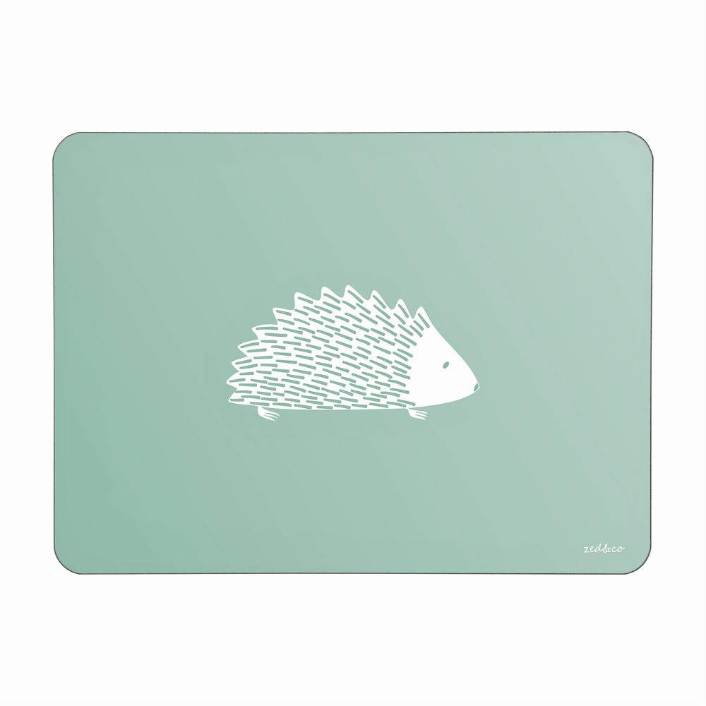 Hedgehog Placemats In Sage