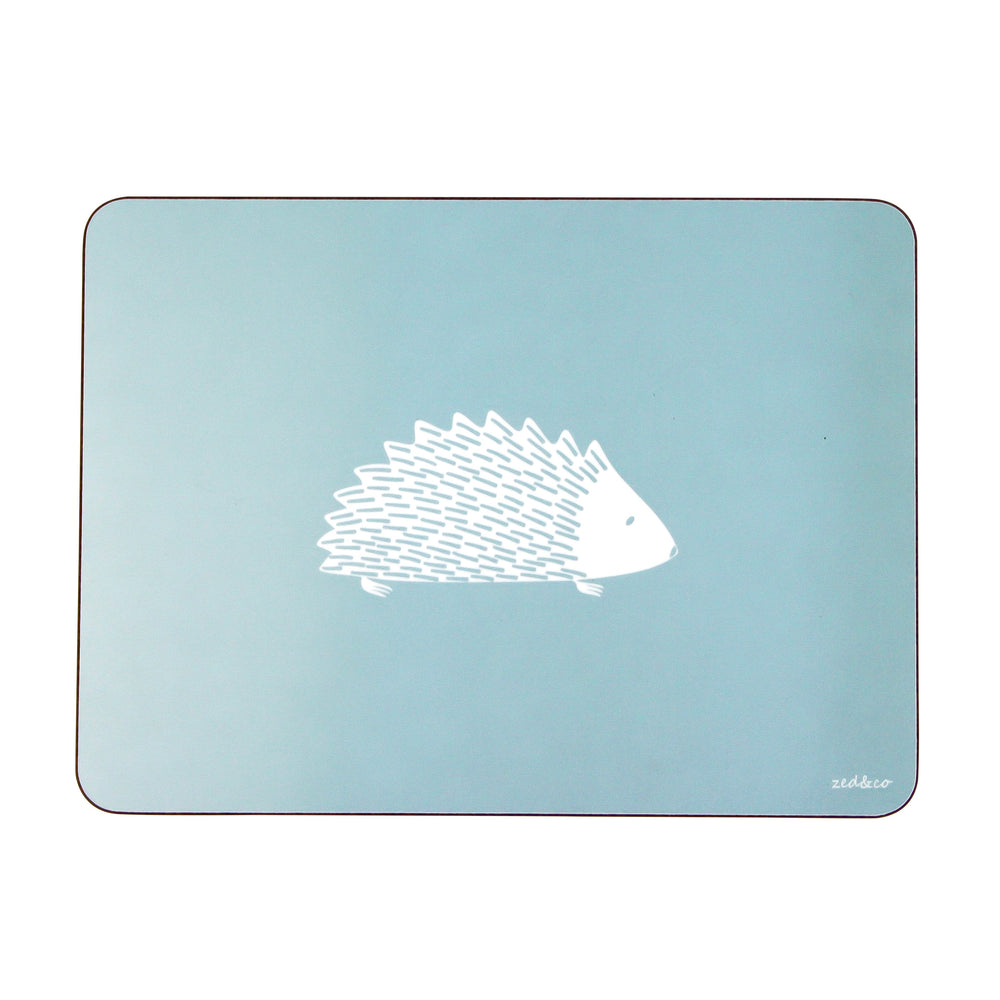 Hedgehog Placemats In Soft Blue