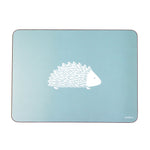 Hedgehog Placemats In Soft Blue - Set of Four