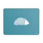 Hedgehog Placemats In Teal - Set of Four - Zed & Co