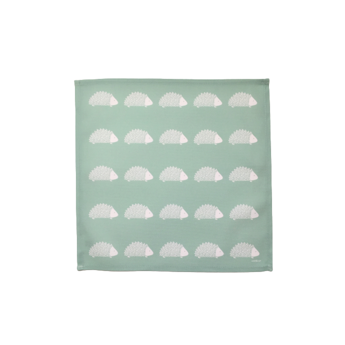Hedgehog Napkins In Sage - Set of Four