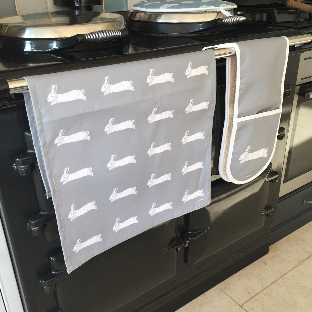 Hare Aga Covers In Grey - Pair