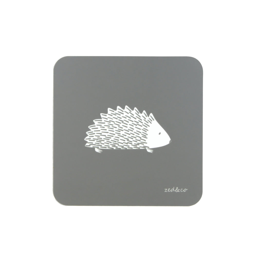 Hedgehog Coasters In Grey - Zed & Co