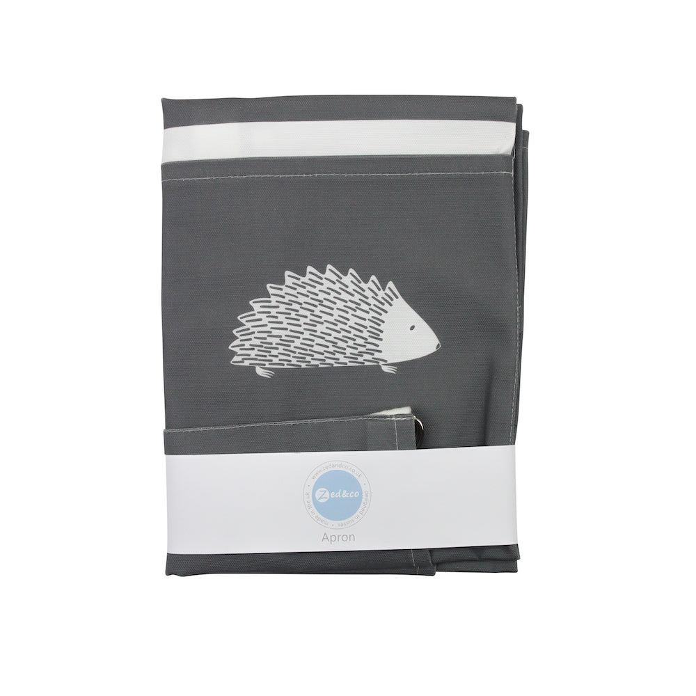 Hedgehog Apron In Slate - Zed & Co