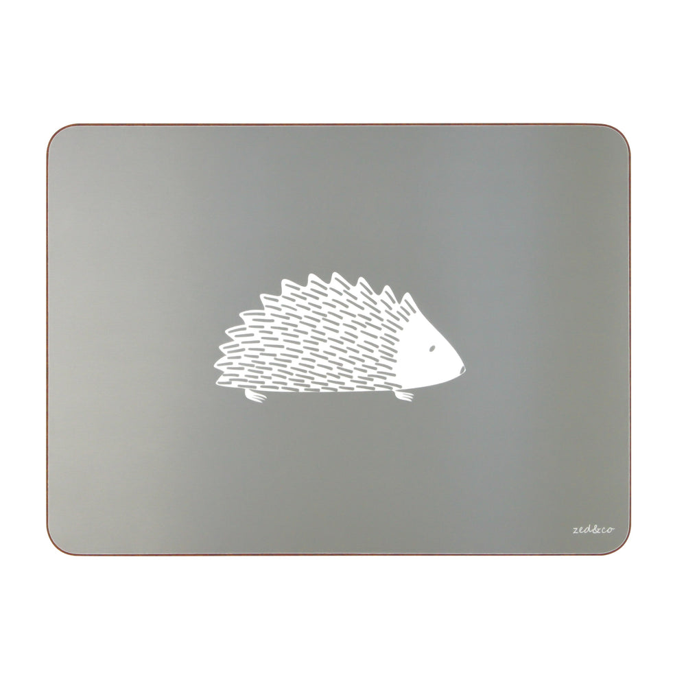 Hedgehog Placemats  In Grey