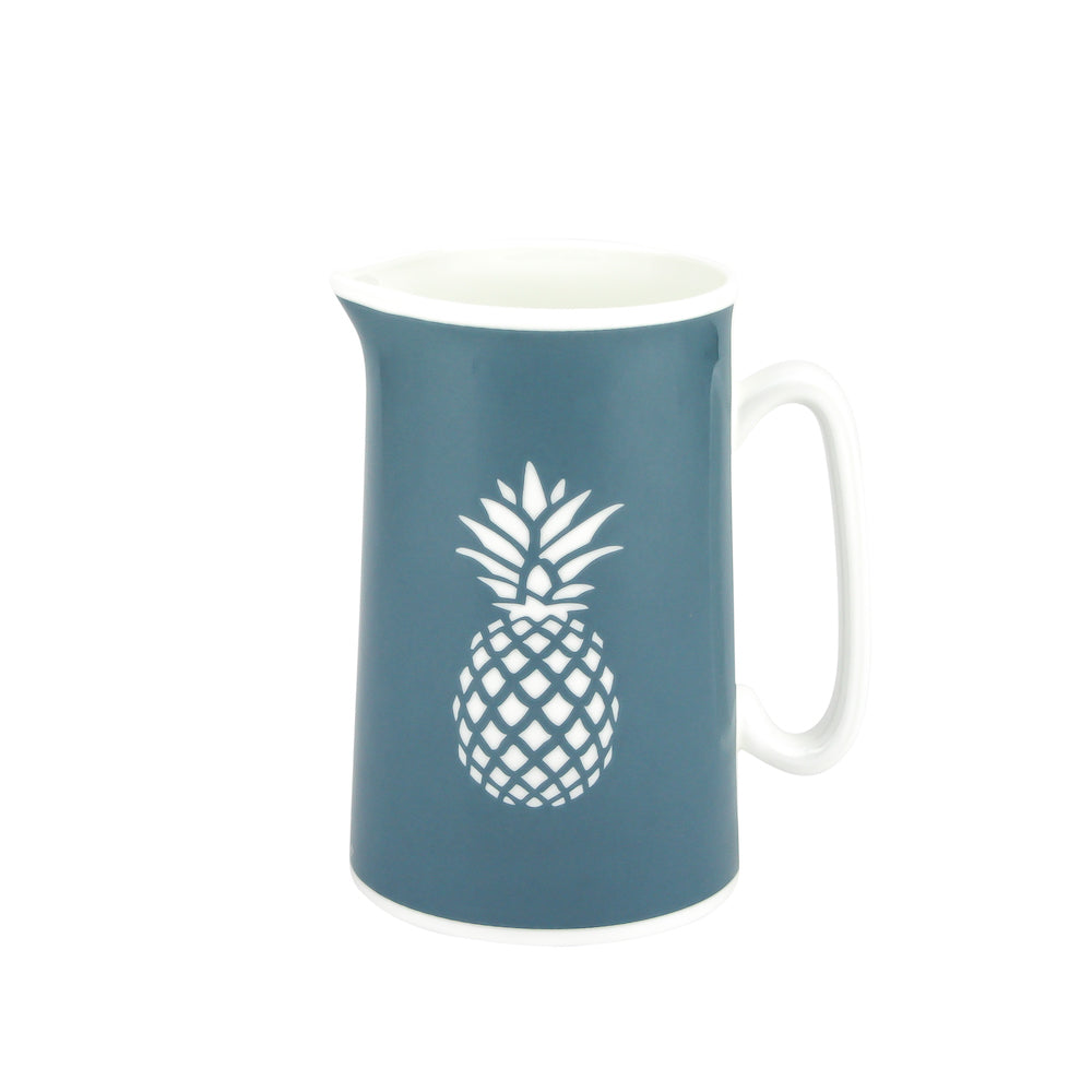 Pineapple Jug In Teal