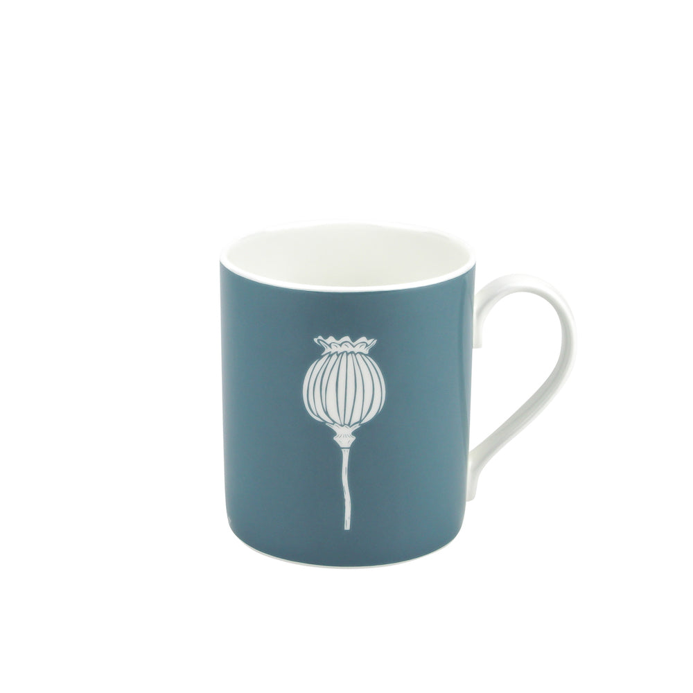 Poppy Mug In Teal - Zed & Co