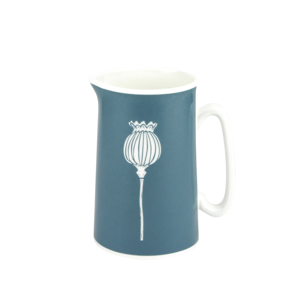 Poppy Jug In Teal - Zed & Co