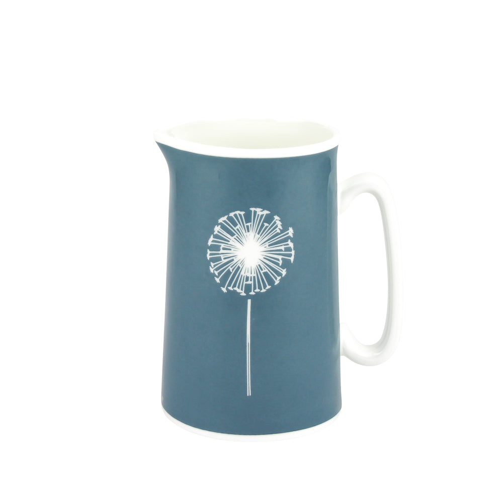 Dandelion Jug In Teal - Zed & Co