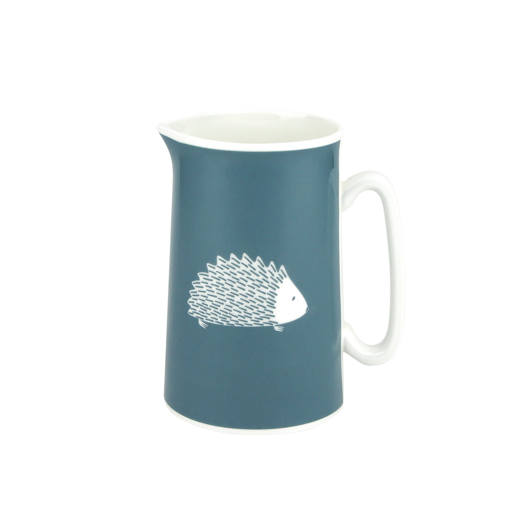 Hedgehog Jug In Teal - Zed & Co