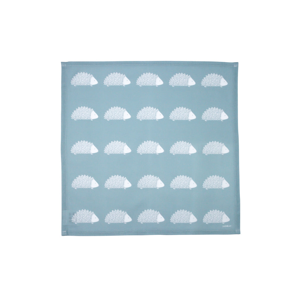 Hedgehog Napkins In Soft Blue - Set of Four