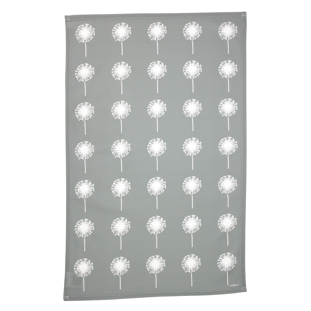 Dandelion Tea Towel In Grey