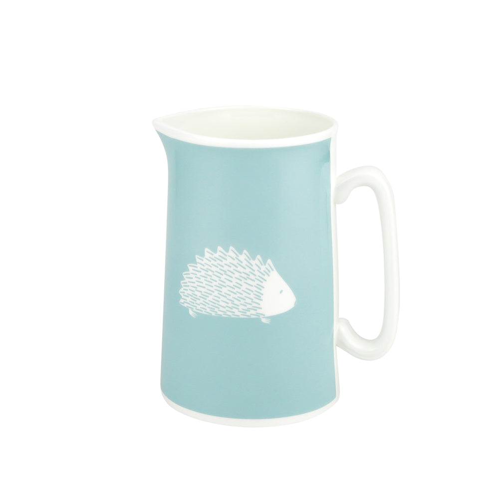 Hedgehog Jug In Soft Blue